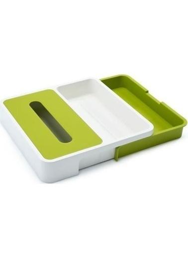 Joseph Joseph 85043 Genişletilebilir Çekmece Düzenleyicisi Beyaz - Yeşil Renkli